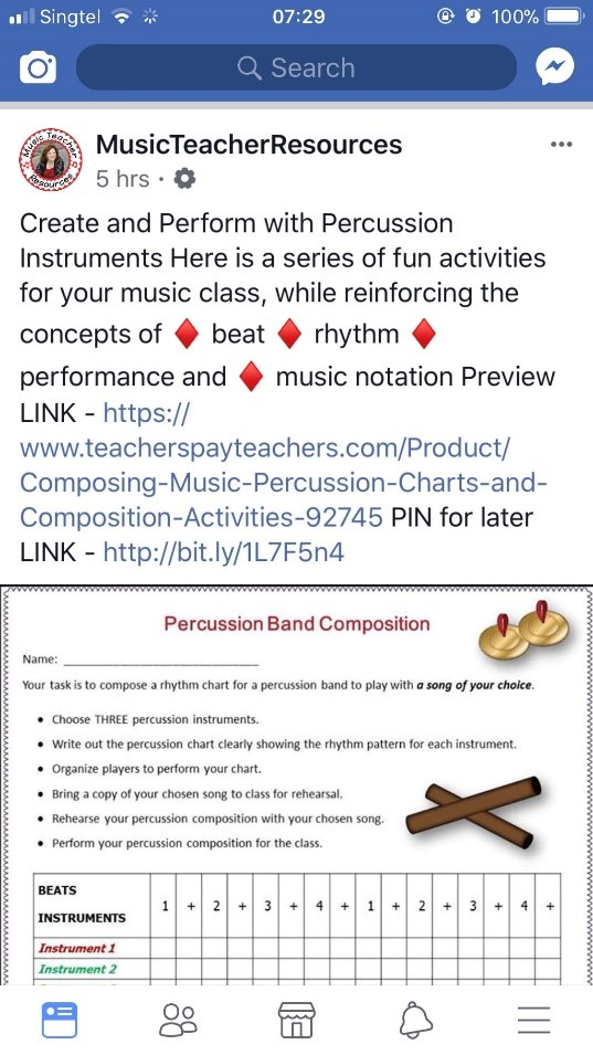 Percussion Composition Activities